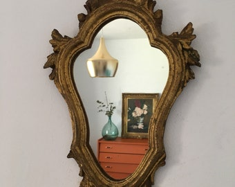 Antique gold mirror Vintage