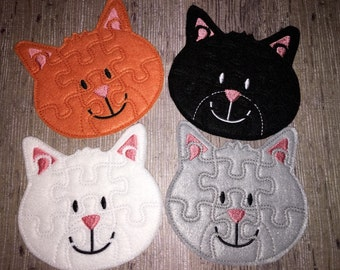 Felt Kitty Cat Puzzle For Kids