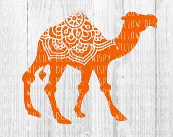 Camel SVG, DXF, PNG, eps, jpg, pdf, Mandala, Animal