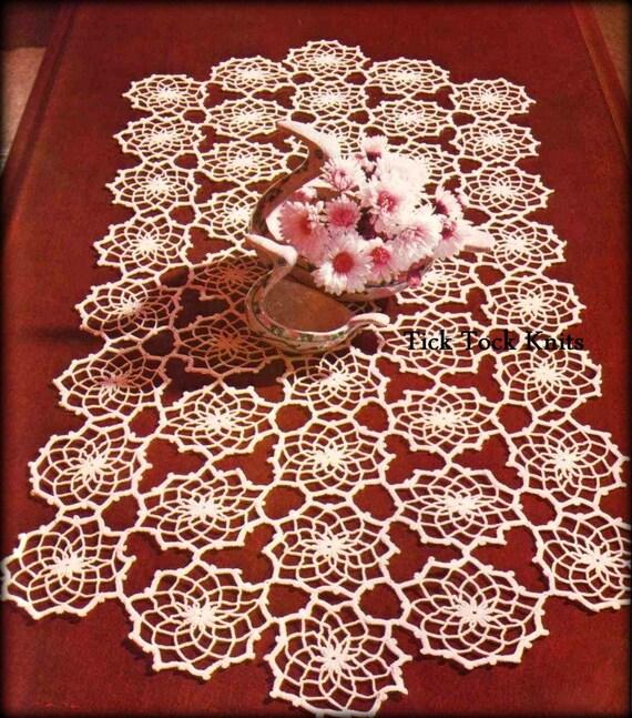 No.487 Crochet Pattern PDF Vintage Fractals Table Runner