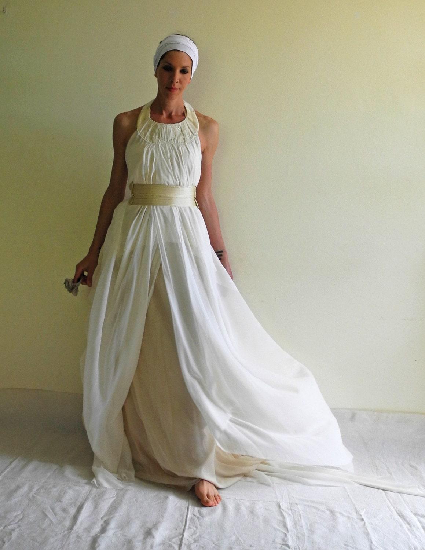 Boho Brautkleid griechischen Göttin Flapper-Brautkleid
