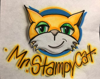 Stampy cat etsy stampy cat airbrush shirt mr stampy cat shirt stampy cat youtube stampy cat altavistaventures Image collections