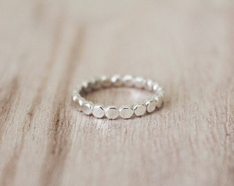 Pebble stacking ring, sterling silver ring, stacking ring, stacking rings, stacker, stackable ring, sterling silver, pebble band