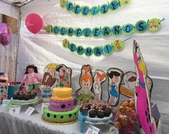 Pebbles Flinstone Feliz Cunpleaños Banner