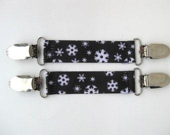 MITTEN CLIPS for Kids Winter Jacket - Glove Clip- Mitt Clip- Metal Clips for Childrens Sleeves- Sleeve Clip- Kids Stocking Stuffer Gift Idea
