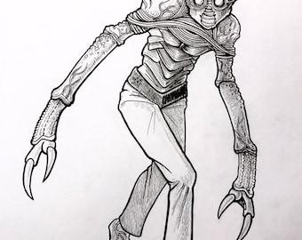 Inktober SotBGC: Day 29. Metaluna-Mutant