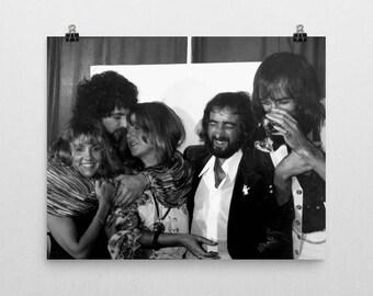Fleetwood Mac Poster - Stevie Nicks - 70's Music Poster -Black And White - Bohemian Decor - Semi-Gloss Photo Paper Poster