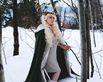Spellbound Hooded Linen Fantasy Cloak