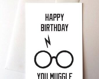 Muggle Birthday Card