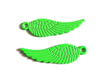 1 x charm wing fluorescent NEON Green 30mm