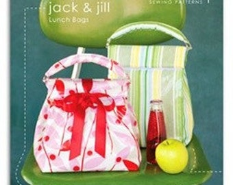 Heather Bailey Jack and Jill Lunch Bag Sewing Patterns ON SALE