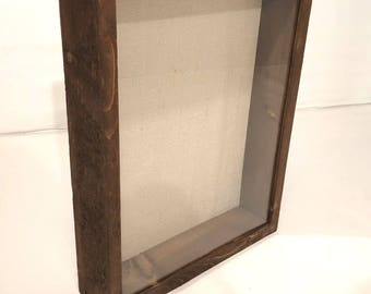 Rear-loading Shadow Box - 11x14 Shadow Box Frame, 3 inches Deep, Custom Color | Artisan Rustic Collection