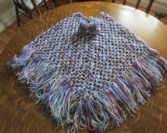 Crocheted Poncho-Teen/Adult