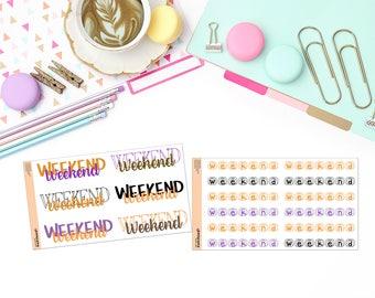 OCTOBER WEEKEND Paper Planner Stickers