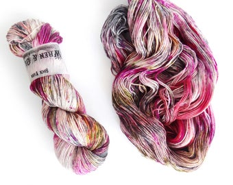 Sock Yarn Superwash Merino/Nylon 85/15 4ply Handdyed Yarn: CRUSH