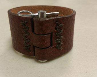Women's Leather Cuff Bracelet, Bracelet, Leather Cuff Bracelet Women's, Cuff Bracelet, Leather Bracelet Women, Industrial Bracelet