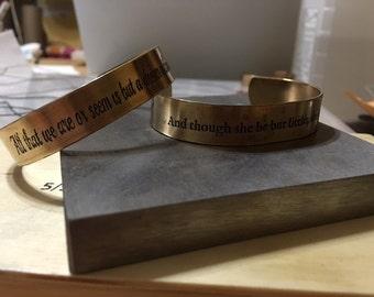 Large Quote Bracelet