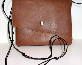 Leather Small Messenger Bag, Leather Crossbody Bag, Bags and Purses, Leather Clutch