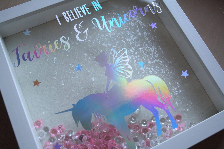 I believe in fairies and unicorns frame holographic vinyl zoom jeuxipadfo Images