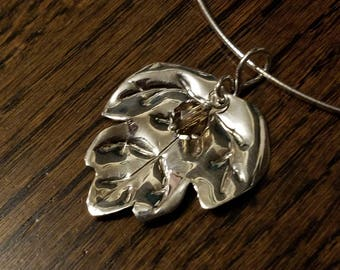 Handmade Sterling Silver Leaf Necklace