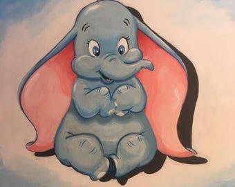 Disney Dumbo Acrylic painting