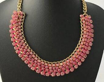 Necklaces for women, Rhinestone Necklace, Silver Rhinestone, Statement Necklace, Crystal Necklace, Choker necklace, Bridesmaid Necklace