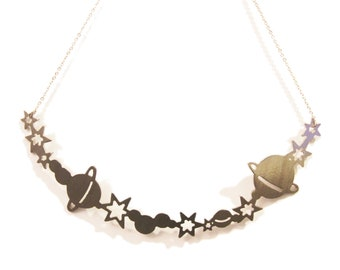 Stainless Steel Galaxy Necklace