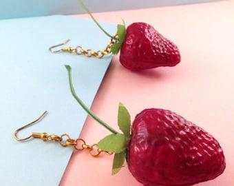 Popart Strawberry Earrings