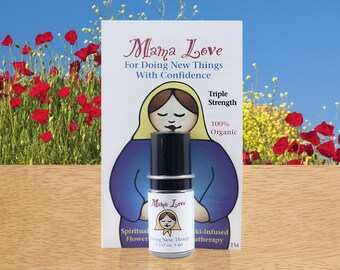 For Confidence, Flower Essence Aromatherapy Triple Strength, Organic Bach & North American Flowers with Reiki, Healing Perfume