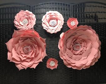 Pink Paper Flower Backdrop