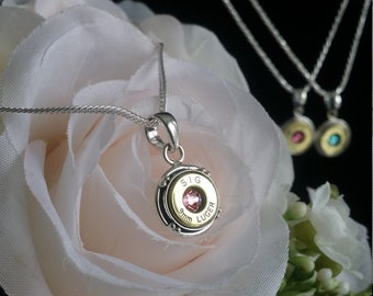 Annie 9mm Sterling Silver and Swarovski Necklace