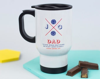 Sports Travel Mug - Personalised - Sporting Gift - Drinks - On the go gift