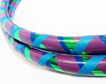 Purple Green All Sizes Hula Hoop Beginner//Polypro//Kid//Weighted//Exercise//Dance Hula Hoop // Customizable