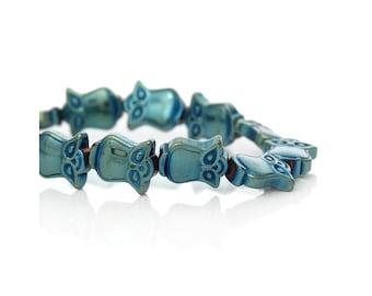 Owl, owl, owl beads, hematite, Hematit, Hämatitperlen