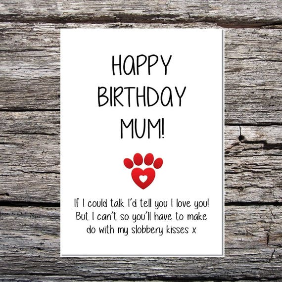 Card from the dog funny dog card mum birthday card funny like this item bookmarktalkfo Images