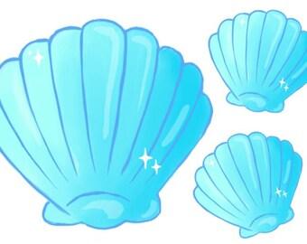 Shell trio stickers!