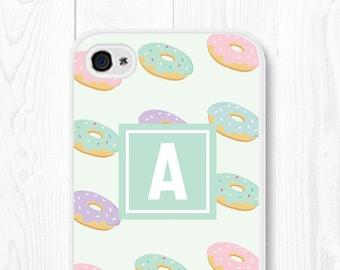 Vintage iPhone 6 Case Hipster Doughnut iPhone 6s Case Monogram Samsung Galaxy S7 Case Mint iPhone SE Case Doughnut iPhone 5 Case iPhone 5c
