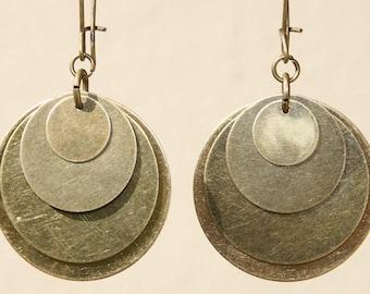 Brass Earrings Boho Earrings Bohemian Earrings Dangle Drop Earrings Metal Earrings  Long Earrings Birthday Gift for her Gift for women
