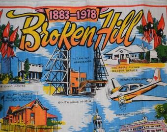 Vintage Tea Towel - Broken Hill 95th Year Festival by Joneff  1978 Un-used