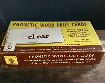 Vintage Phonetic Word Drill Cards