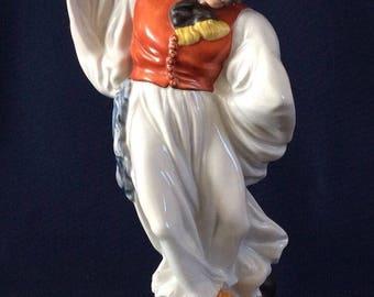 Herend Porcelain Figure 5496 Man Dancing Peasant Hungarian Betyar Polychrome