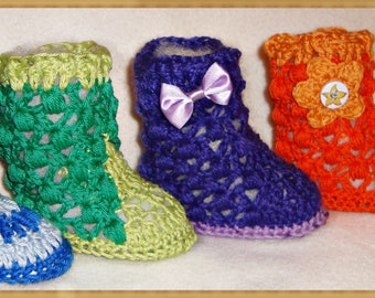 Crochet Pattern Summer Shoes – up to 1 year