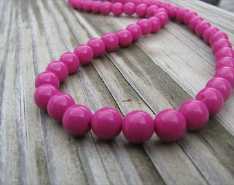 Girls Necklace- Beaded Children's Jewelry- Pink