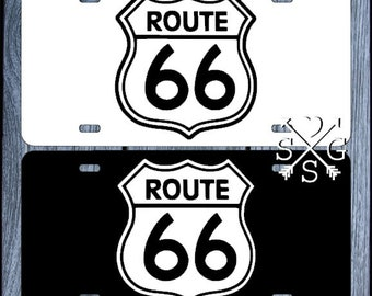 Route 66 License Plate Route 66 Car Tag  US highway Route 66 Decal
