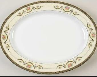 "16"" Oval Serving Platter Marigold by NORITAKE"