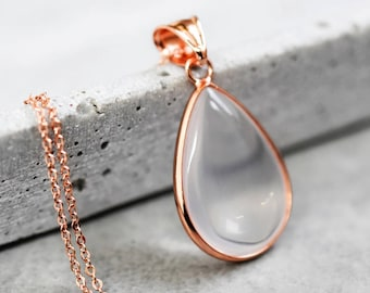 Opal Rose gold Necklace (VIK-67)
