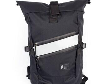GO by Gosha Orekhov Black Technic Rolltop m Backpack, Waterproof Rucksack, Hiking Backpack, Cycling Backpack / To order