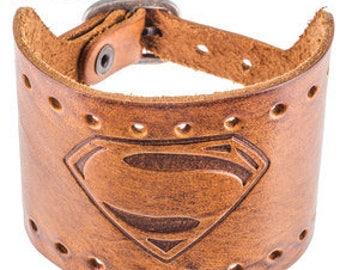 Superman cuff leather