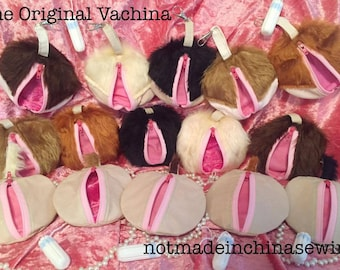 "The ""ORIGINAL Vachina"" Vagina coin purse MATURE LISTING! fanny muff genitals snatch beaver vajay-jay hens gift gag gift funny gift"