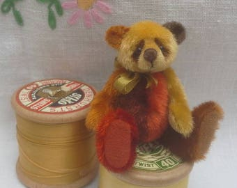 SOLD*(order only )Autumn Colours a miniature teddy bear